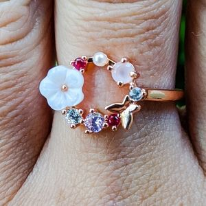 New Sterling Silver Rose Gold 925 Stamped Ring